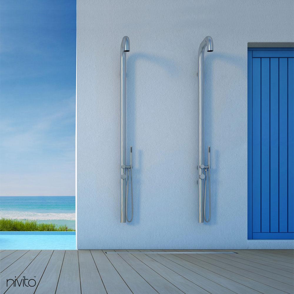 Mural douche interieure douche exterieure