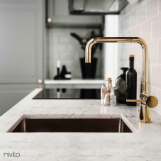 Robinet De Cuisine Dore/Or/Laiton - Nivito 2-RH-360