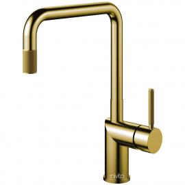 Goud/Messing Keukenkraan Uittrekbare slang - Nivito RH-340-EX-IN