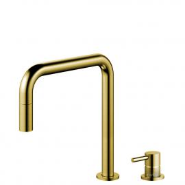 Goud/Messing Keukenkraan Uittrekbare slang / Gescheiden behuizing/pijp - Nivito RH-340-VI