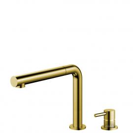 Goud/Messing Keukenkraan Uittrekbare slang / Gescheiden behuizing/pijp - Nivito RH-640-VI